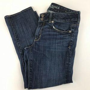 AEO American Eagle Jeans 8 Regular Artist Crop